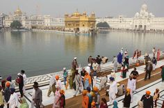 Indian Sikh devotees gather at the Golden Temple in Amritsar, on the occasion of Bandi Chhor Divas or Diwali, on November 13, 2012. Sikhs celebrate Bandi Chhor Divas or Diwali to mark the return of the Sixth Guru, Guru Hargobind Ji, who was freed from imprisonment and also managed to release 52 political prisoners at the same time from Gwalior fort by Mughal Emperor Jahangir in 1619