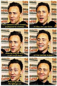 And he looks so proud of Loki there