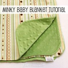Minky Baby Blanket Tutorial: Perfect baby shower gift!