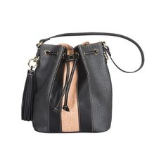 Borbonese Grey and Rose Bucket Bag ($226) ❤ liked on Polyvore featuring bags, handbags, shoulder bags, dlr, multicolor, man bag, hand bags, genuine leather shoulder bag, leather handbags and shoulder handbags
