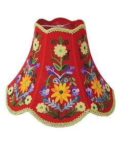 Look what I found on #zulily! Red Floral Embroidered Lamp Shade #zulilyfinds