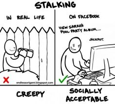 Stalking: what's creepy and what's socially acceptable