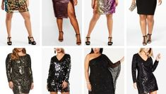 27 Plus Size Sequin Dresses {with Sleeves} - Alexa Webb Sequin Dress With Sleeves, Plus Size Sequin Dresses, Party Dresses With Sleeves, Plus Size Party Dresses, Plus Size Outfits, Dresses For Apple Shape, Beautiful White Dresses, Rehearsal Dinner Dresses, Resort Dresses