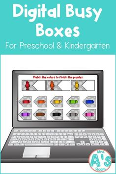 This fun digital busy box is perfect for online instruction or distance learning with your preschool, pre-k, or kindergarten kiddos! It works with multiple platform and in the classroom for practice matching colors! #mrsasroom Preschool Color Activities, Preschool Kindergarten, Classroom Activities, School Resources, Learning Resources, Letter Sorting, Color Puzzle, Busy Boxes, Learning Colors