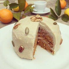Морковный пирог (без муки, без сахара, веганский, подходит для сыроедов)