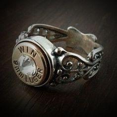9mm brass with aquamarine stone. Size 7