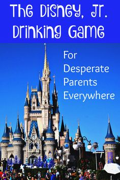Does watching all the Disney, Jr. shows drive you nuts? Try this drinking game to make it all a bit more fun.