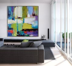 Handmade Large Contemporary Art Canvas Painting door CelineZiangArt