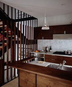 прозрачная декоративная перегородка, ограждение лестницы-4