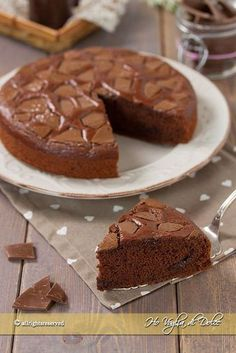 Per San Valentino Ricotta, Eggless Recipes, French Desserts, Vegan Sweets, Pinterest Recipes, Something Sweet, Chocolate, Italian Recipes, Sweet Recipes