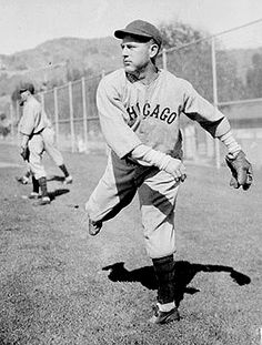 May 3, 1930  Charlie Root throws a 10-inning one-hit shutout to defeat the Philadelphia Phillies at Wrigley Field.  He also doubles and scores the winning run.  Charlie Root is listed as #14 on the greatest Cubs of all-time by the website Bleed Cubbie Blue.  Photo from Bleed Cubbie Blue.  http://sbn.to/IjwI6l