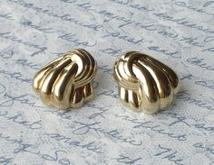 Vintage Earrings 925 Silver Gold Plated Sterling by retrogroovie