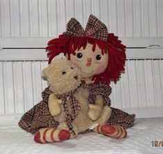 Annie and her bear