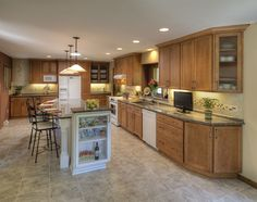 Who wouldn't love this expansive kitchen?!