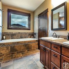 Mountain cottage bath.