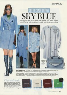 Color Crash Course: Sky Blue #instyle