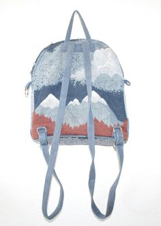 Wild Running Horses // Vintage Tapestry Mini Backpack