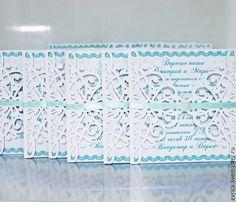 """Купить """"Нежность"""" приглашение - белый, приглашения на свадьбу, свадьба, Открытка ручной работы, бумага для скрапбукинга"""