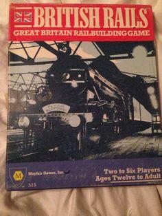 BRITISH RAILS TRAIN BOARD GAME – MAYFAIR GAMES BUILD  RAILROAD CRAYON RAILS 1984 #Mayfair