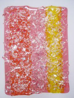 Handmade fused glass nightlight Chunky Granite by FusedGlassbyDana