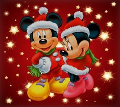 Minnie Mouse Christmas Wallpaper | coolstyle wallpapers.com                                                                                                                                                                                 Más