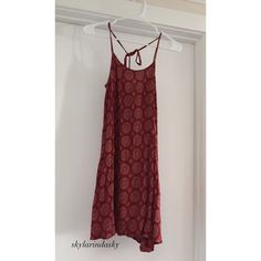 Red Brandy Melville Dress Super cute!! Great condition. Ties in back of neck. Prefer ️️  Brandy Melville Dresses