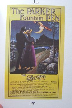 Old Parker Adverts - Paper and Pen Paraphernalia - The Fountain ...