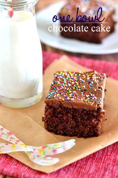 Love homemade chocolate cake but hate washing dishes? Then this One Bowl Chocolate Cake is for you!