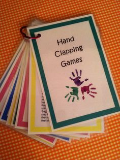 Custom Order for 'gbcmarisa': PDF file of Hand-Clapping Games