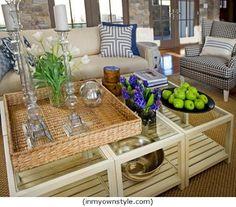 Decorar mesas de centro / Coffee table decor