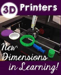 3D Printers - New Dimensions in Learning! Renee Peoples shares how a 3D printer she obtained with DonorsChoose funding has impacted learning in her classroom.