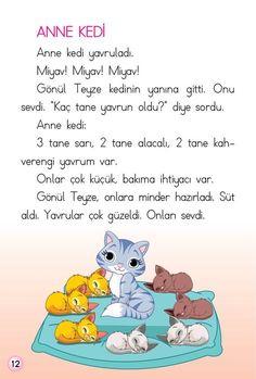 1. Sınıf Konu Anlatım HİKAYELER (OKUMA DİZİSİ) Drama Gif, Learn Turkish, Turkish Language, Baby List, Reading Passages, Classroom Activities, Primary School, I Love Cats, Smurfs