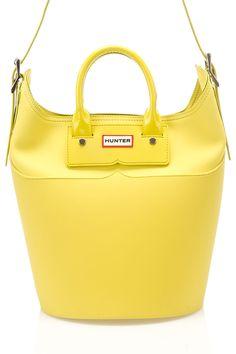 Hunter - Original Rubber Base Bucket Bag in Yellow Chartreuse