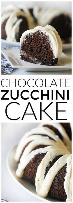 Chocolate Zucchini Cake from Sixsistersstuff.com