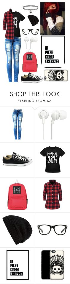 """Normal People Scare Me"" by rainbowsdear on Polyvore featuring Converse and Rick Owens"
