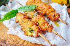 Arrosticini di pollo e zucchine ricetta facile e veloce vickyart arte in cucina