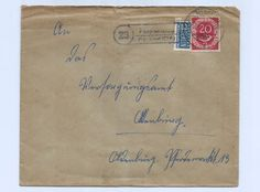 Germany 1952 Interesting Cover Nice Cancel and Stamps