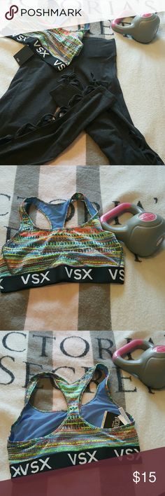 Sports bra Bright colorful sports bra with elastic band Victoria's Secret sports  Intimates & Sleepwear Bras
