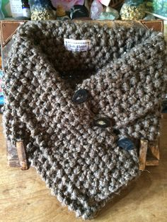 The Mithrail Collar Hand-Knitted in 'Dust' (Light Brown) Jools Elphick Knitwear Facebook