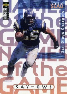 RARE 1997 UPPER DECK CC NAMES OF THE GAME SAY-OW! JUNIOR SEAU CHARGERS MINT