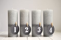 DIY: Puristischer Adventskranz ohne Tannenzweige (www.rheintopf.com) #diy #advent #christmas
