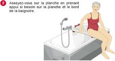 """Les """"conseils malins d'Henriette"""" : la planche de bain. www.protec-chute.com"""