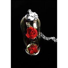 The Enchanted Red Rose Necklace by Curiology ($18) ❤ liked on Polyvore featuring jewelry, necklaces, red rose necklace, dome pendant, rosette necklace, nickel free necklace y rose jewelry