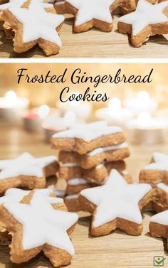 A fun cookie to make for the holidays, this recipe is a lighter version of traditional gingerbread. Real Food Recipes, Cookie Recipes, Dessert Recipes, Real Foods, Baking Recipes, Healthy Recipes, Fun Cookies, Cupcake Cookies, Christmas Cookies