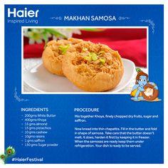 Treat yourself with delicious #recipes from #Haier on this joyous occasion of Janmashtami. #HappyJanmashtami
