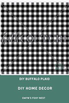 Online tutorial to show you how to make Buffalo Plaid in Minutes. #buffaloplaid #diyhomedecor #diyhomedecorvideotutorial #diybuffaloplaidtutorial #buffalopalidinminutues #onlinetutorial #gwynsfoxynest #surfaceprintideas