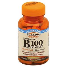 Sundown Naturals Vitamin B100 Complex High Potency Time Release Caplets 66 ct ** More info could be found at the image url.