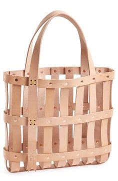 byAMT Leather Strap Tote Bag | No