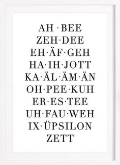 ABC of owl cut as a poster in a wooden frame Buy online on JUNIQE now! The Words, Learn German, Good To Know, Decir No, Quotations, Texts, Funny Quotes, Wisdom, Writing