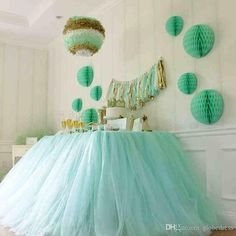 Pink Sky Blue Purple Tutu Tulle Wedding Decorations 2015 High ...